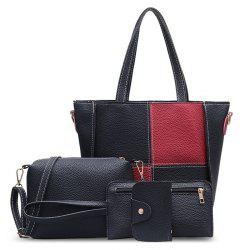 4 Pieces Faux Leather Shoulder Bag Set -