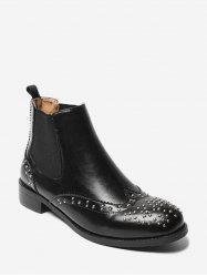 Low Heel Studs Embellished Chelsea Boots -