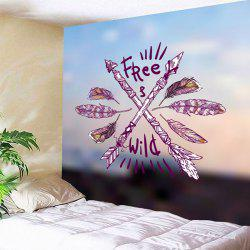 Wall Hanging Wild Free Arrows Feather Print Tapestry -