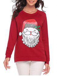 Christmas Santa Claus Pattern Sweatshirt -