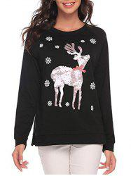 Christmas Deer and Snowflake Sweatshirt -