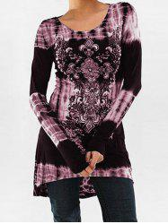Tie Dye Long Sleeve Tunic Top -