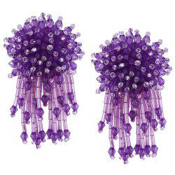 Beaded Cluster with Fringed Earrings -