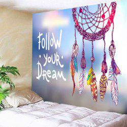 Wall Art Dreamcatcher Letter Print Tapestry -