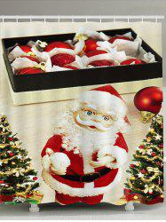 Santa Claus with Glasses Pattern Waterproof Shower Curtain -