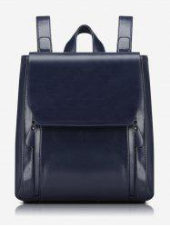 Stitching PU Leather Backpack With Handle -