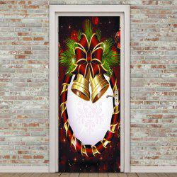 Christmas Bell Flower Door Art Stickers -
