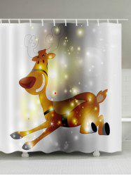Running Elk Patterned Bath Decor Shower Curtain -