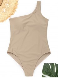 One Shoulder High Cut One Piece Swimwear -