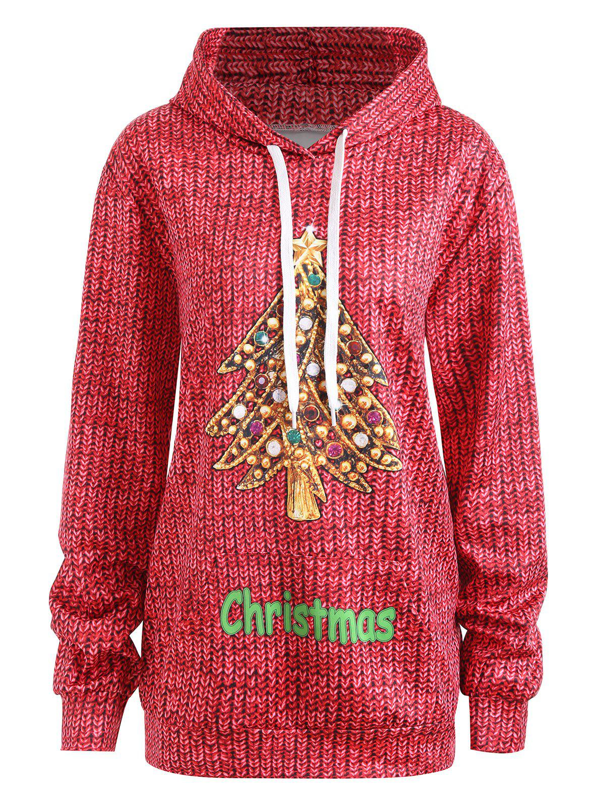 Unique Plus Size Christmas Hoodie with Pockets