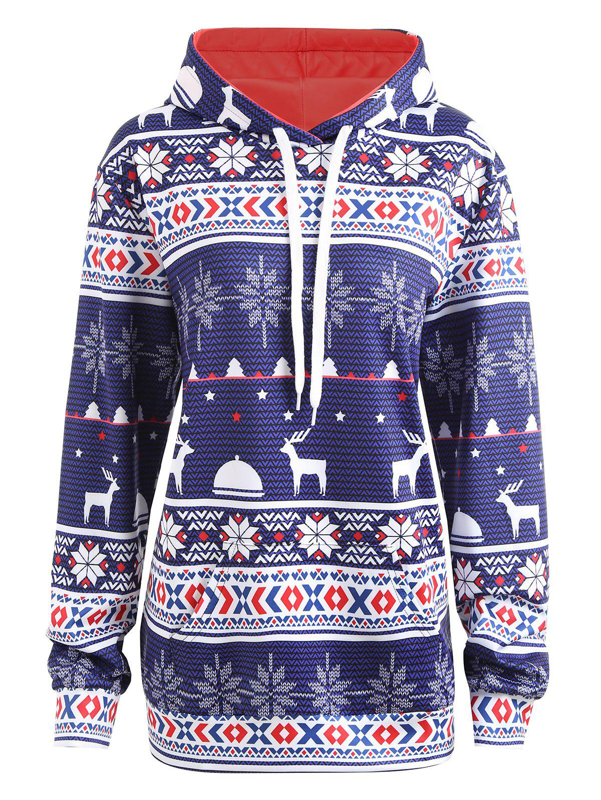 Outfits Plus Size Christmas Hoodie with Pockets