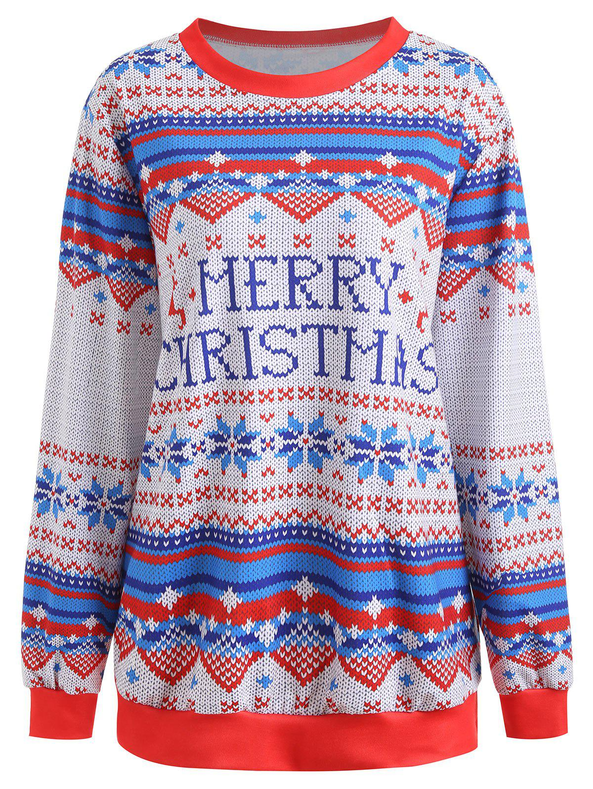 Affordable Christmas Graphic Plus Size Sweatshirt