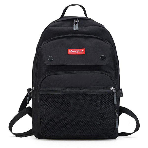 New Multi Function Mesh Pockets Letter Backpack