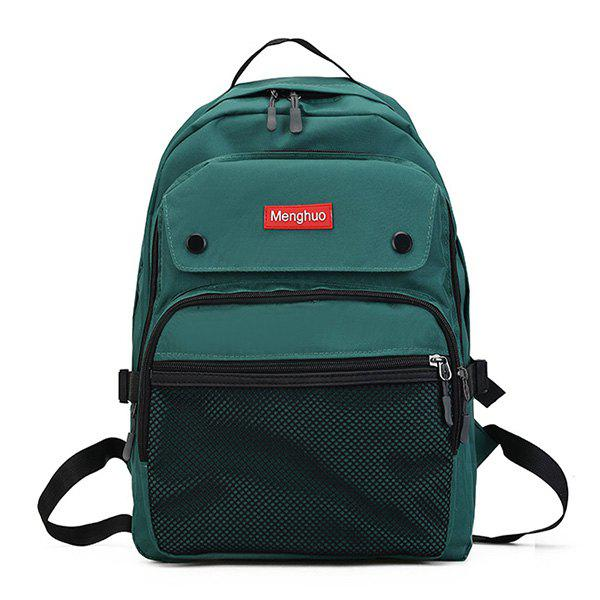 Unique Multi Function Mesh Pockets Letter Backpack