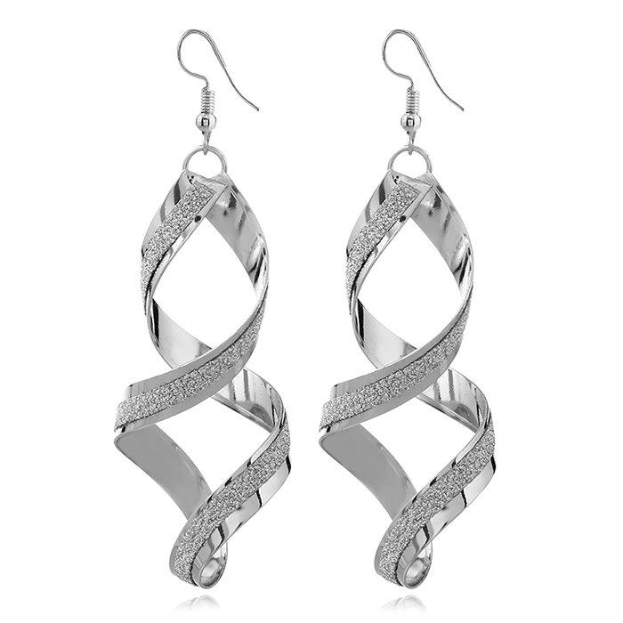 Latest Spiral Geometrical 8-shape Drop Earrings