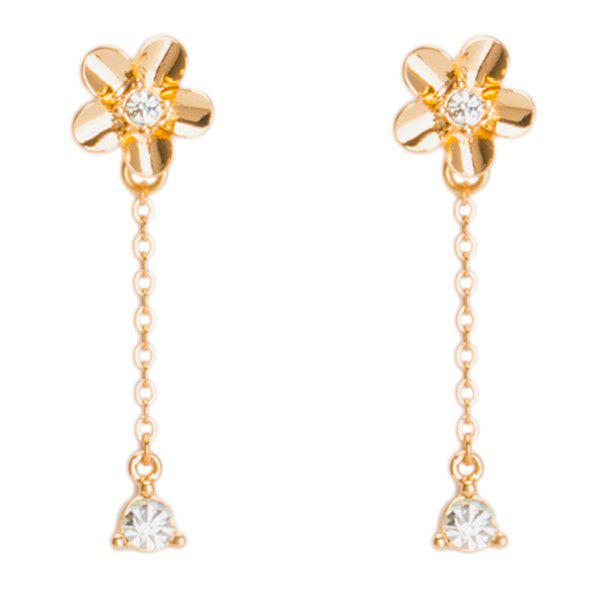 New Rhinestone Chain Flower Earrings