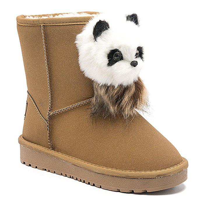 Sale Little Bear Pendant Slip On Snow Boots