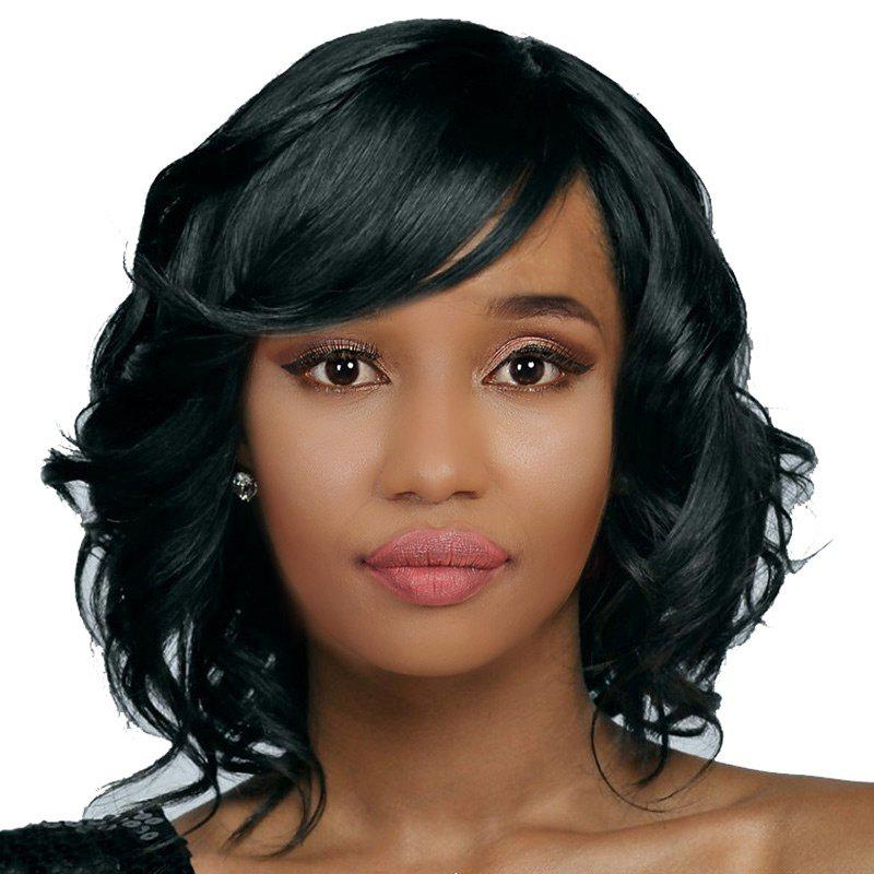 Outfit Medium Inclined Bang Wavy Synthetic Wig