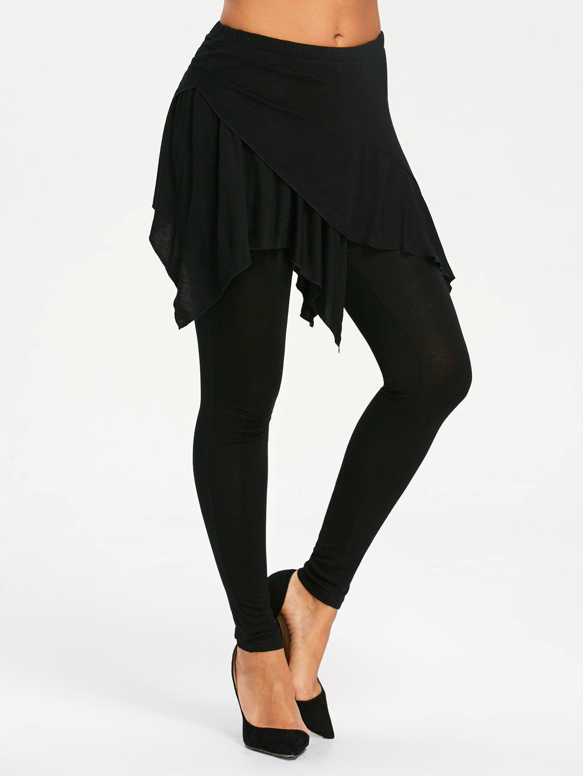 Sale High Waisted Handkerchief Skirted Leggings