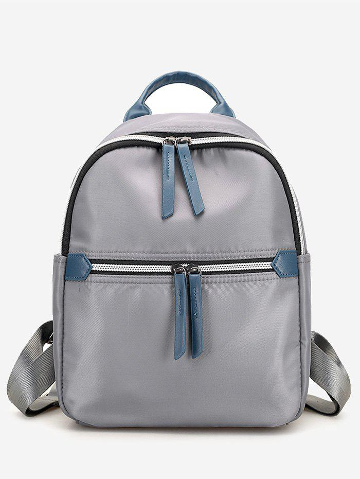 Sale Nylon Contrasting Color Backpack With Handle