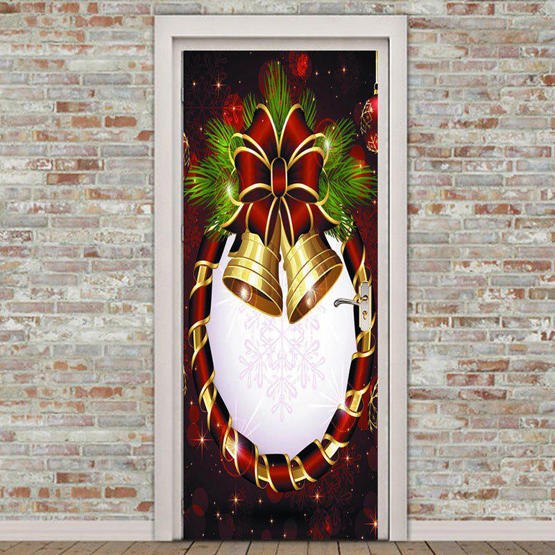 Buy Christmas Bell Flower Door Art Stickers