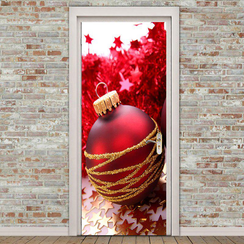 Store Golden Stars and Red Ball Pattern Environmental Removable Door Stickers