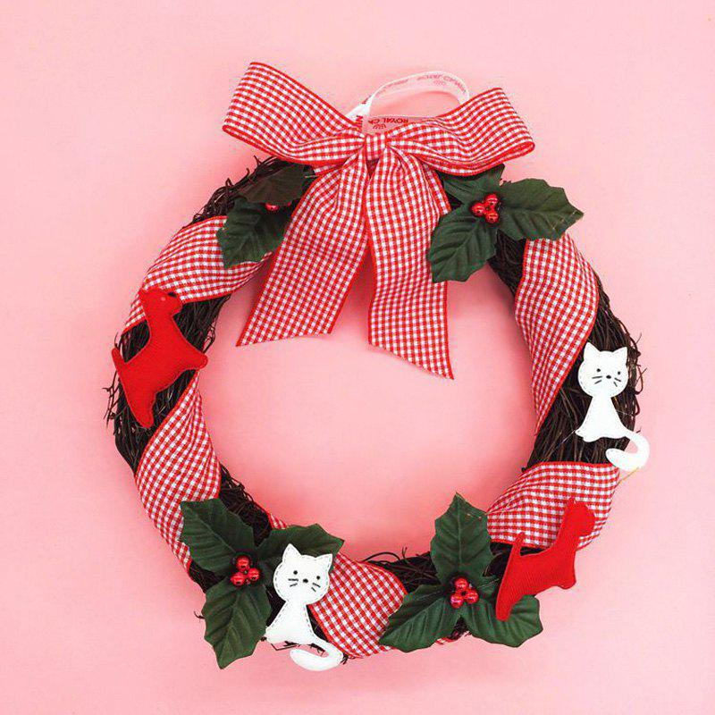 Best Home Decorations Mistletoe Bowknot Christmas Wreath