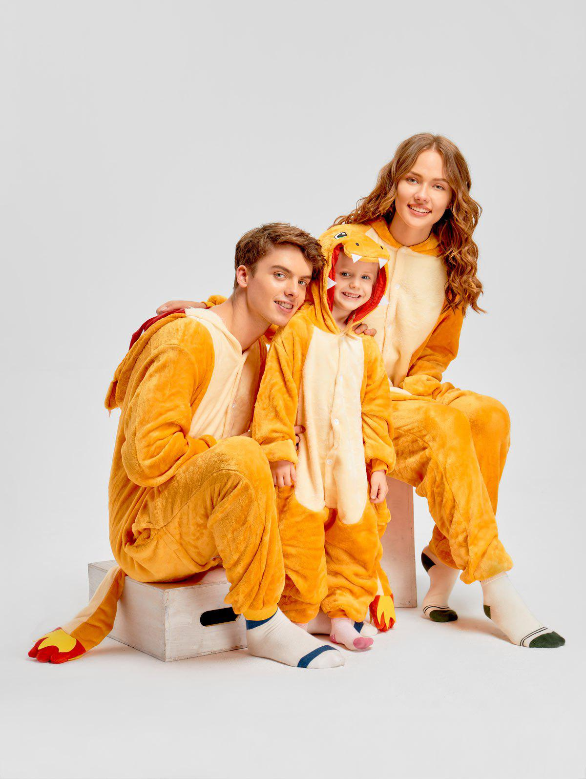Chic Christmas Family Fiery Dragon Animal Onesie Pajama