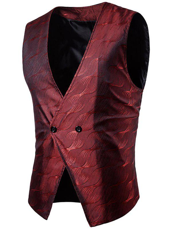 Hot Vertigo Pattern Two Button Waistcoat