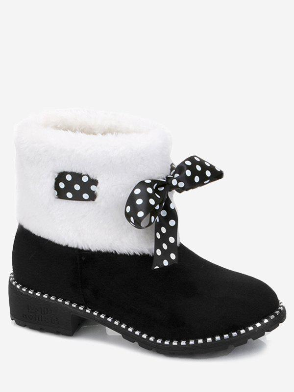 Sale Faux Fur Bowknot Snow Boots