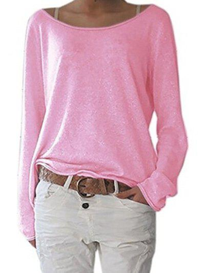 Hot Long Sleeve Scoop Neck T-shirt