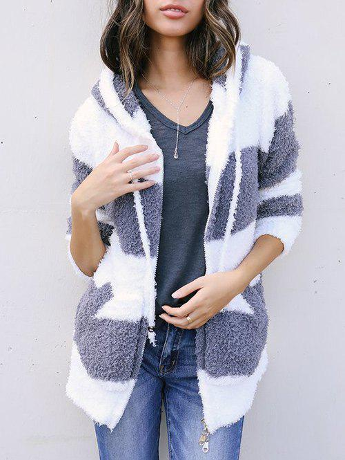 Buy Faux Fur Zipper Jacket