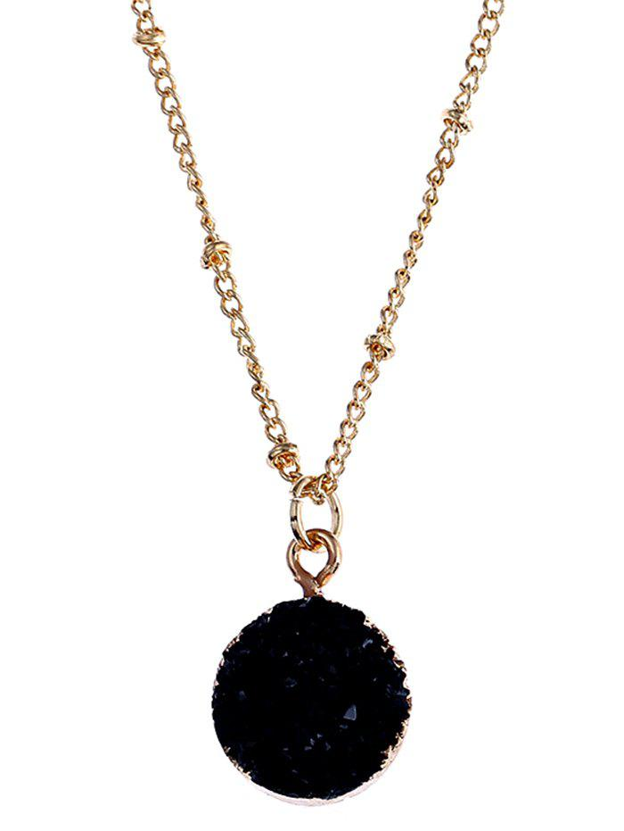 Outfit Round Natural Stone Pendant Necklace