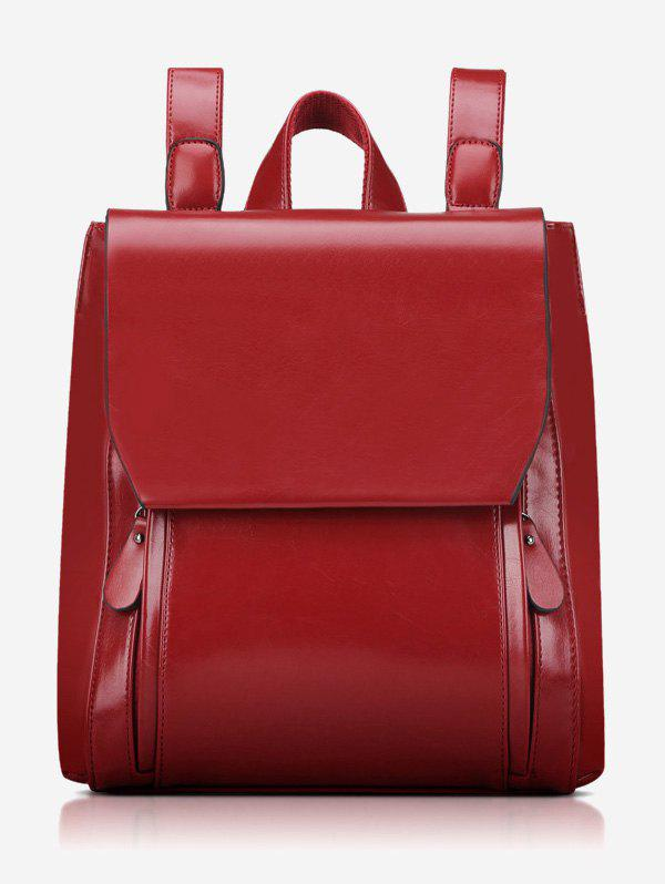 Affordable Stitching PU Leather Backpack With Handle