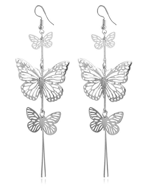 c7bb548b0be 37% OFF  Layered Alloy Butterfly Drop Earrings