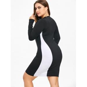 Two Tone Plus Size Bodycon T Shirt Dress -