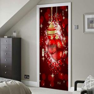 Light-spot and Baubles Pattern Environmental Removable Door Stickers -