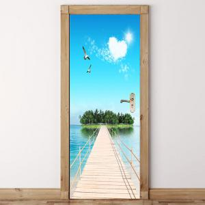 ... Environmental Removable Island Scenery Pattern Door Stickers ... & Colorful 38.5*200cm*2pcs Environmental Removable Island Scenery ... Pezcame.Com