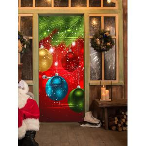 Christmas Ornaments Baubles Pattern Door Cover Stickers -