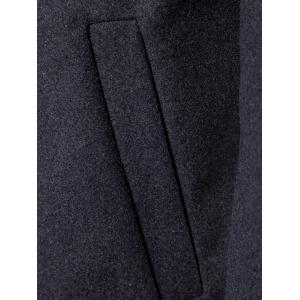 Shawl Collar Two Button Wool Blend Coat -