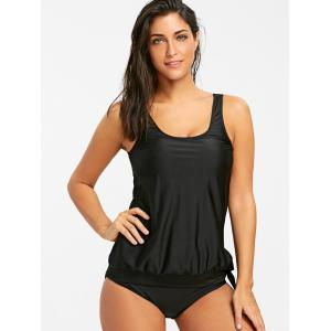 Ensemble Tankini Blouson Scoop Neck -