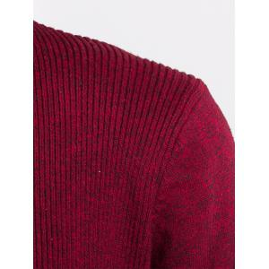 Jacquard Knitted Open Front Cardigan -