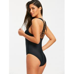 Cross Criss One Piece Swimwear with Straps -