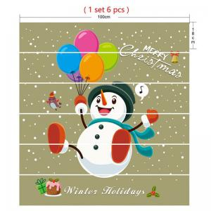 Christmas Balloons Snowman Printed Decorative Stair Stickers -