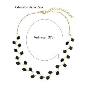Faux Crystal Beads Branch Collarbone Necklace -