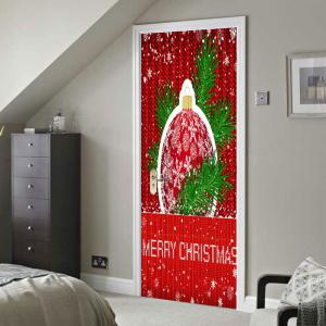Heart and Christmas Ball Pattern Environmental Removable Door Stickers -