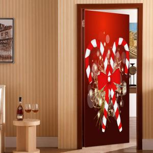 Christmas Candy Bar Pattern Environmental Removable Door Stickers -