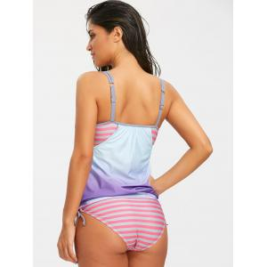 Coconut Palm Striped Tankini Set -