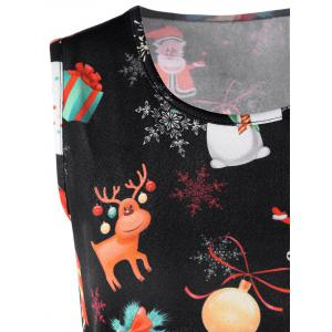 Christmas Reindeer Sleeveless Fit and Flare Dress -