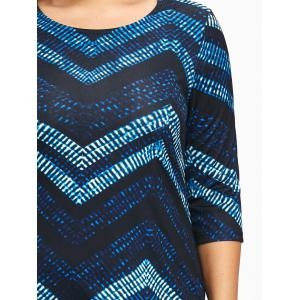Zig Zag Knee Length Plus Size Dress -